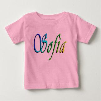 Sofia, Name, Logo, Baby Girls Pink T-shirt