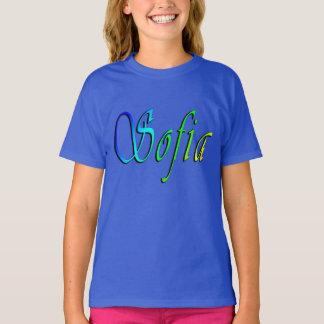 Sofia, Name, Logo, Girls Blue T-shirt