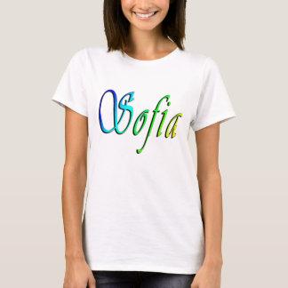Sofia, Name, Logo, Ladies White T-shirt