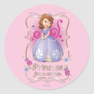 Sofia: Princess from Within Classic Round Sticker