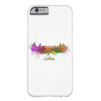Sofia skyline in watercolor barely there iPhone 6 case