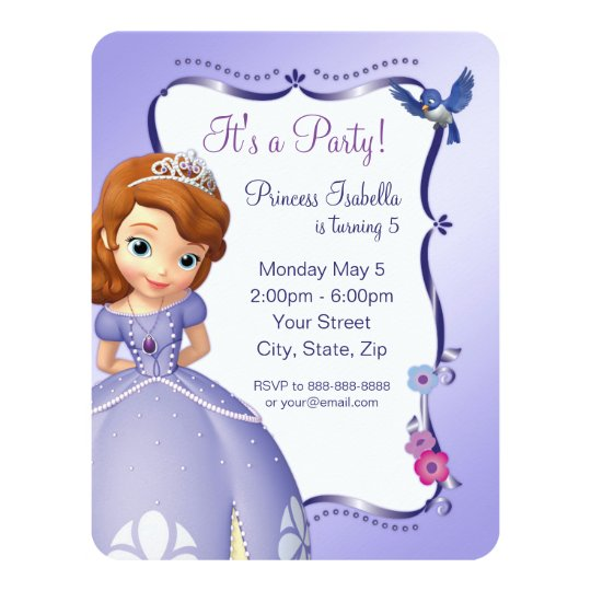 Sofia the First Birthday Invitation | Zazzle.ca