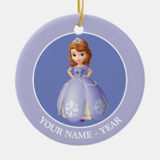 Sofia The First | Standing Add Your Name Ceramic Ornament