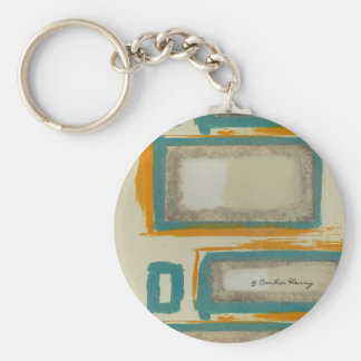 Soft And Bold Rothko Inspired Abstract Signed Keychain