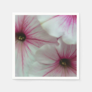 Soft and delicate Pink Petunias Disposable Napkin