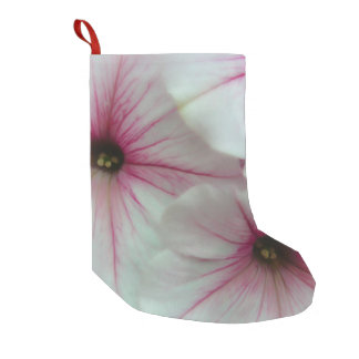 Soft and delicate Pink Petunias Small Christmas Stocking