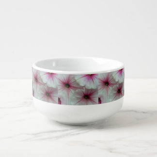 Soft and delicate Pink Petunias Soup Mug