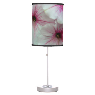 Soft and delicate Pink Petunias Table Lamp