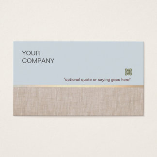 Soft and Natural Business Card