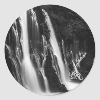 Soft and Smooth Burney Falls Classic Round Sticker
