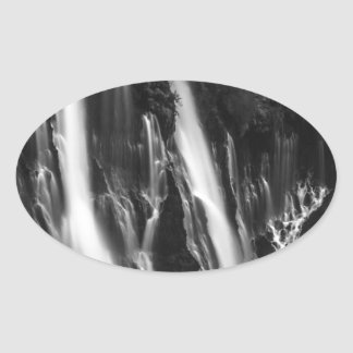 Soft and Smooth Burney Falls Oval Sticker