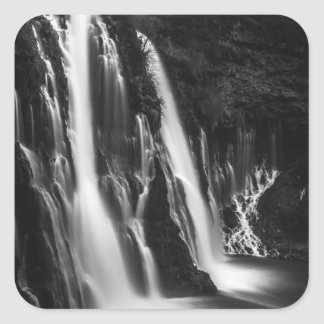 Soft and Smooth Burney Falls Square Sticker