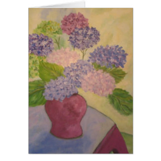 Soft and Warm Hydrangea Painting Card