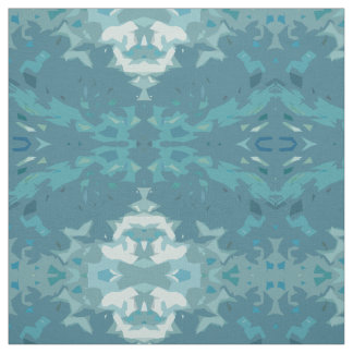 Soft Aquarium Medallion Fabric by Margaret Juul