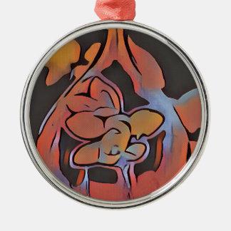Soft Artistic Floral Design Metal Ornament