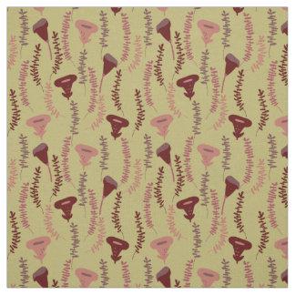 Soft autumn colours fabric design