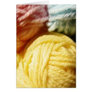 Soft Balls Of Yarn Card
