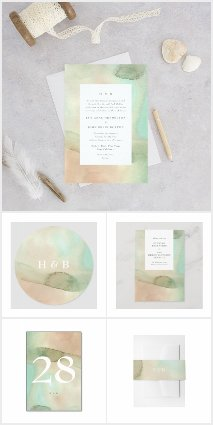 Soft Beach Watercolor Elegance