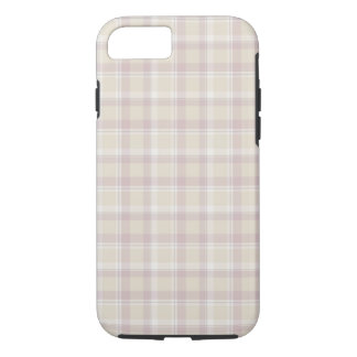 Soft beige Plaid iPhone 7, Tough iPhone 7 Case