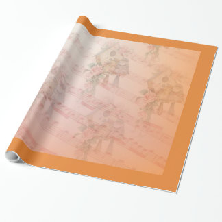 """Soft Bird Song Glossy Wrapping Paper, 30"""" x 15' Wrapping Paper"""