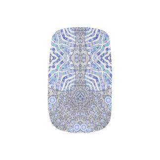 Soft Blue Animal Print Minx Nail Art