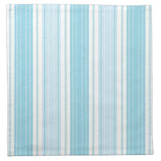 Soft Blue , Aqua and White Seaside Stripe Pattern Napkin