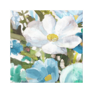 Soft Blue Floral Canvas Print