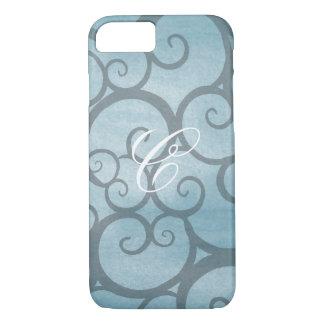 Soft Blue Grey Swirl iPhone Case