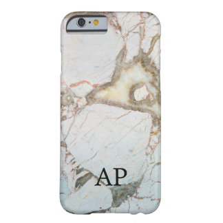 SOFT BLUE marble MONOGRAM personalised PHONECASE Barely There iPhone 6 Case