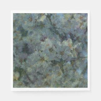 Soft Blue Orchard impressionist Napkins Disposable Napkins