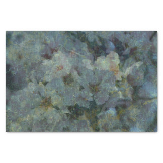 Soft Blue Orchard impressionist Tissue Paper