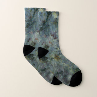 Soft Blue Orchard Socks
