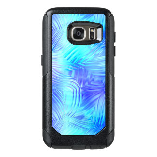 Soft Blue Patterned Glass OtterBox Samsung Galaxy S7 Case