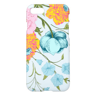 Soft Blue Pink And Yellow Flowers iPhone 7 Case