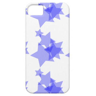 Soft blue stars on a white PHONE case