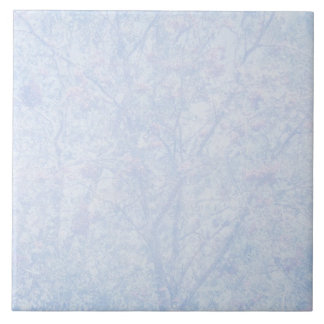 Soft Blue Tint Rowan Pattern Tile