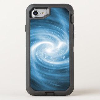 Soft Blue Whirlpool Swirl OtterBox Defender iPhone 8/7 Case