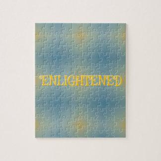 "Soft Blue Yellow Pattern "" Enlightened"" Zen Jigsaw Puzzle"