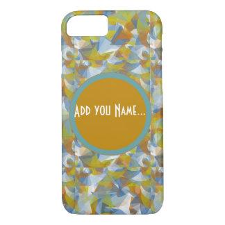 Soft blues/greens/orange swirling monogram phone iPhone 7 case