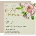 SOFT BLUSH PINK WATERCOLOUR FLORAL BRIDAL SHOWER CARD