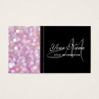 Soft Bokeh Glitter Sparkles Business Card