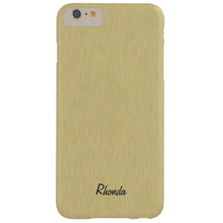 Soft Brushed Gold Design Barely There iPhone 6 Plus Case