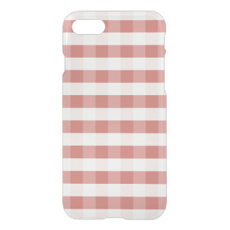 Soft Camellia Pink Gingham Check Pattern iPhone 7 Case