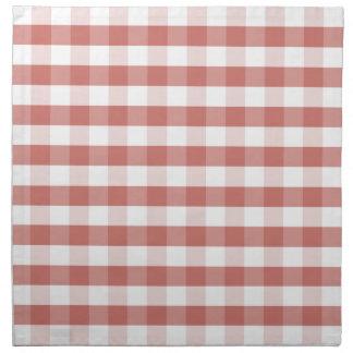 Soft Camellia Pink Gingham Check Pattern Printed Napkins