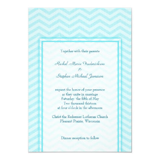 Soft Chevron Aqua Blue Wedding Custom Budget Card