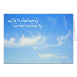 Soft Clouds... Card