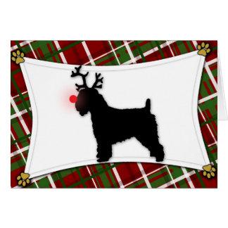 Soft Coated Wheaten Reindeer Christmas Card