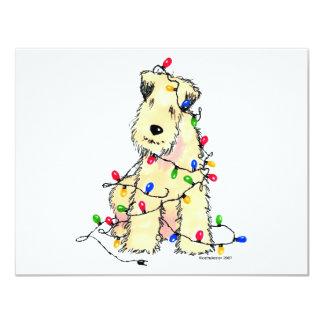 "Soft Coated Wheaten Terrier - Christmas 4.25"" X 5.5"" Invitation Card"