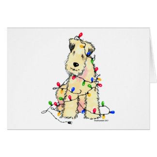 Soft Coated Wheaten Terrier - Christmas Greeting Card
