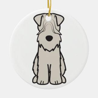 Soft Coated Wheaten Terrier Dog Cartoon Christmas Tree Ornaments
